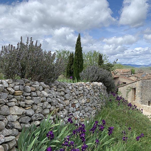 Espace naturel autour du village d'Oppedette