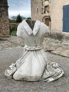 Sculpture antique au prieuré Notre-Dame de Salagon