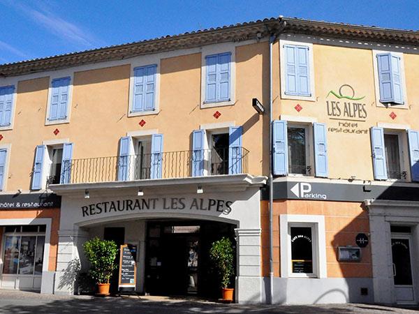 Restaurant de l'hôtel des Alpes à Gréoux-les-bains